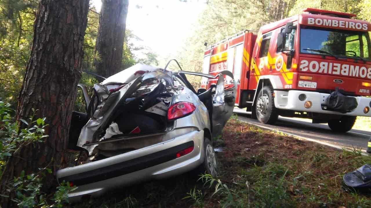 Um morto e dois feridos em acidente na BR 282 em Catanduvas SC