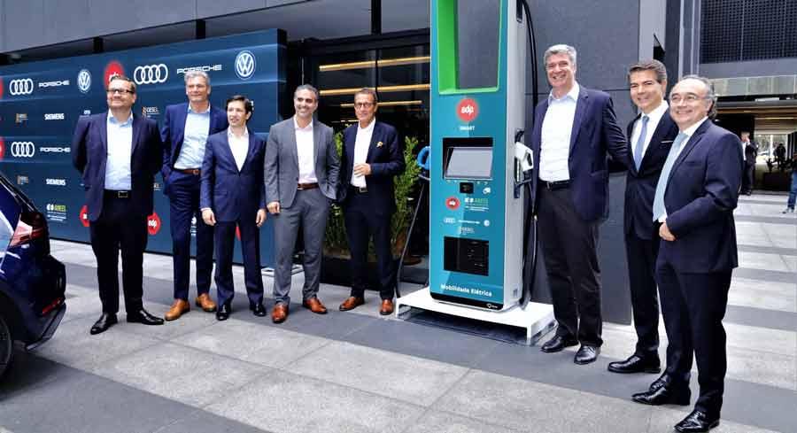 Audi, Porsche e Volkswagen fazem parceria para instalar 30 pontos de recarga de carros elétricos em estradas de São Paulo