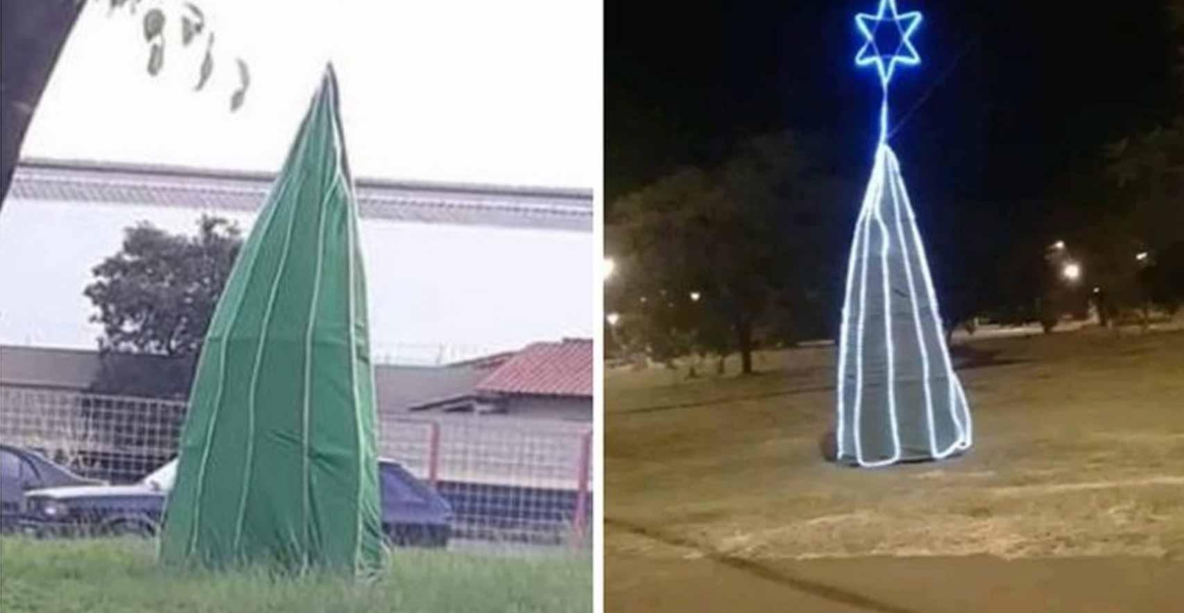 Árvore de Natal da prefeitura Rio Claro vira meme na internet