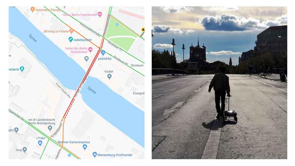 Artista cria engarrafamentos falsos usando 99 smartphones rodando o Google Maps