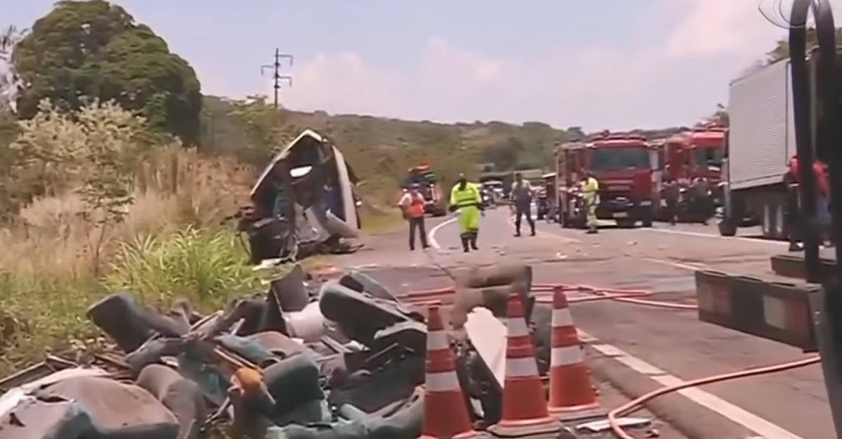 Acidente em Taguai entra para a história como uma das maiores tragédias rodoviárias do país. Foto: Reprodução Youtube