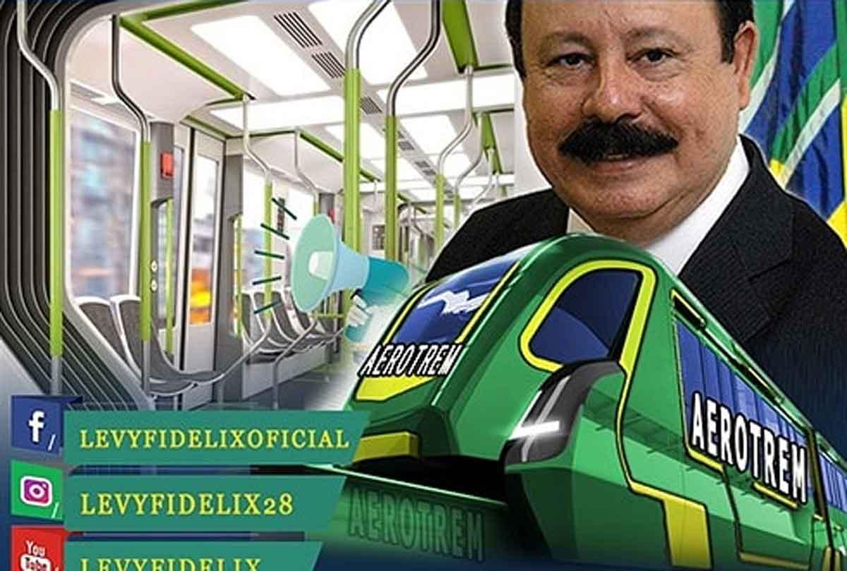 Famoso por defender criação do aerotrem, Levy Fidelix morre vítima de Covid-19. Foto: Reprodução Twitter