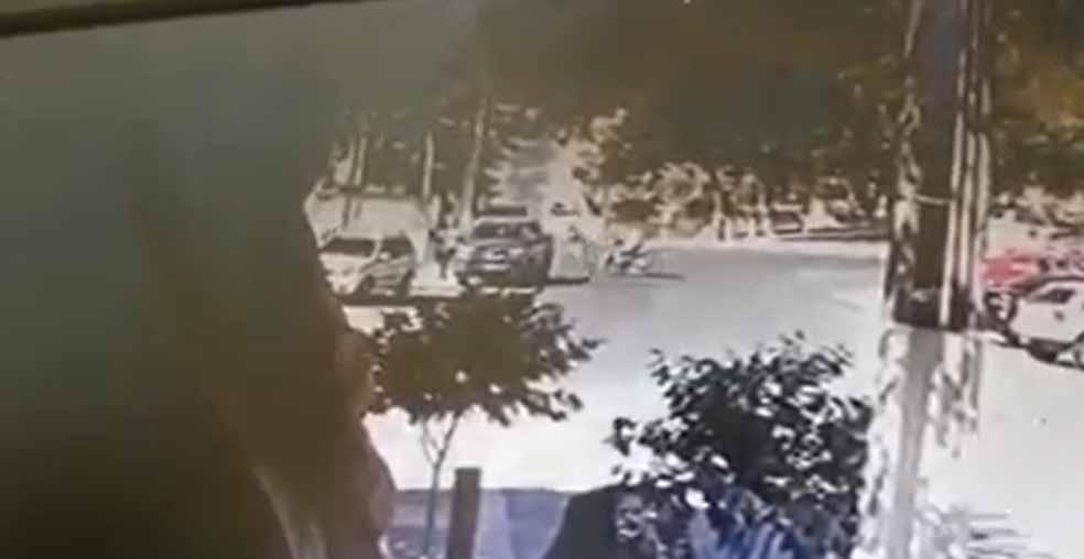 Vídeo: Dono de posto atropela ladrões que roubarem malote com R$ 40 mil