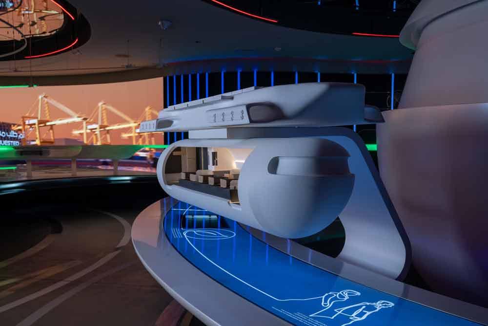 Virgin Hyperloop mostra pods de transporte em Dubai. Foto: Divulgação